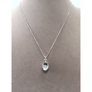 SHAKY CRYSTAL OVAL NECKLACE & EARRING SET