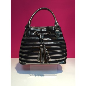STRIPE METALLIC & MESH GRAB BAG