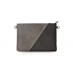 TWO TONE ZIP TOP WALLET