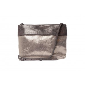 PANEL TOP REAL LEATHER BAG