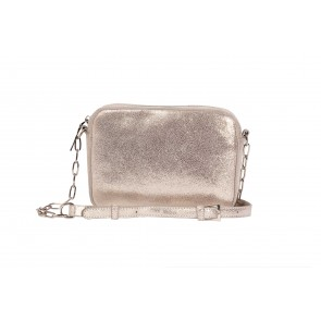 ZIP TOP CROSS BODY BAG REAL LEATHER