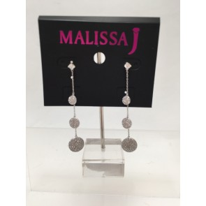 3 DISC PAVE EARRING
