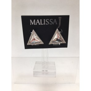 PACK OF 2 TRIANGLE BLING CRYSTAL CLIP EARRING