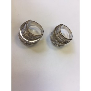 PACK OF TWO SIZE 17/18 CRYSTAL STACK RING