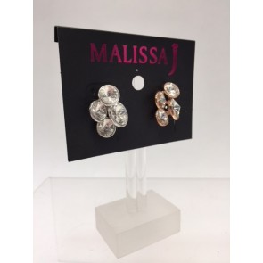 PACK OF TWO CLUSTER CRYSTAL EARRING