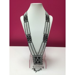 PACK OF 2 AZTEC BEAD LONG NECKLACES
