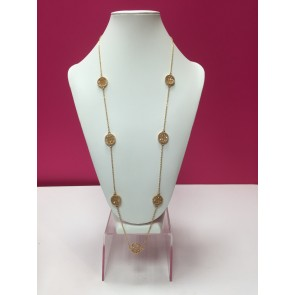 PACK OF 3 GOLD ROUND DISC BEAD NECKLACE
