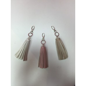 PACK OF 3 REAL LEATHER TASSEL KEYRINGS